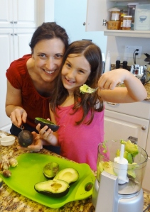 Marissa cooking with her incredibly patient Auntie!